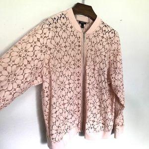 NWT Torrid 4x Pink Lace Bomber Jacket